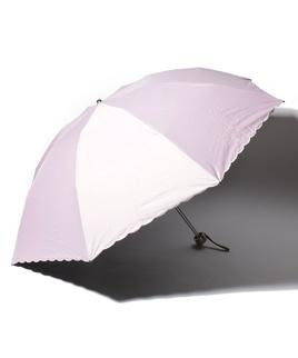 LANVIN COLLECTION 晴雨兼用傘 ミニ傘 ワンポイント オーガンジー カットワーク