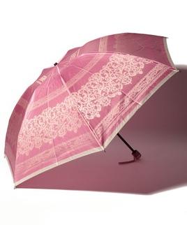 LANVIN COLLECTION 婦人折りたたみ傘 ジャガード レース柄