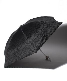 LANVIN COLLECTION(ランバンコレクション)晴雨兼用折りたたみ日傘 スカラ刺繍レース