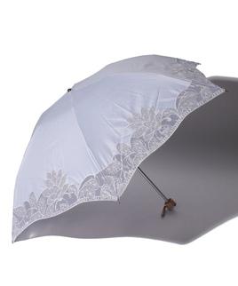 LANVIN COLLECTION(ランバンコレクション)晴雨兼用折りたたみ日傘 オーガンジーカットワーク