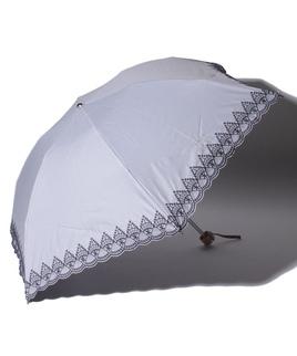 LANVIN COLLECTION(ランバンコレクション)晴雨兼用折りたたみ日傘 裾刺繍
