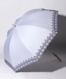 LANVIN COLLECTION(ランバンコレクション)晴雨兼用日傘 裾刺繍