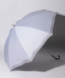 LANVIN COLLECTION(ランバンコレクション)晴雨兼用日傘 ラメオーガンジーカットワーク