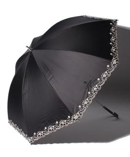 LANVIN CLLECTION(ランバンコレクション)晴雨兼用日傘 裾刺繍