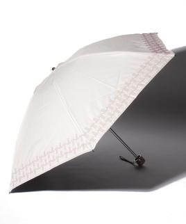 LANVIN COLLECTION(ランバンコレクション)晴雨兼用折りたたみ日傘 刺繍 サテンりぼん