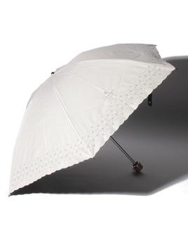 LANVIN COLLECTION(ランバンコレクション)晴雨兼用折りたたみ日傘 刺繍