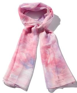 ボーダー花柄ロングスカーフ