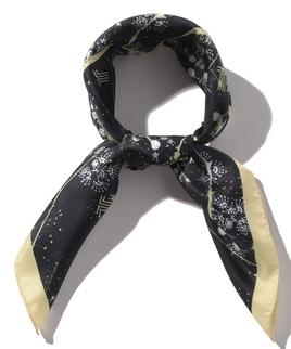 シルク共通柄プリントセミスカーフ