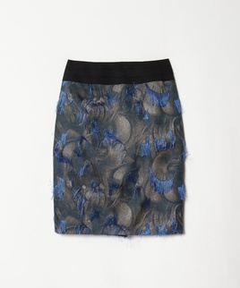 フェザーカットジャガードタイトスカート