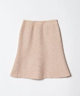 【セットアップ対応商品】ファンシーツィードパネルスカート