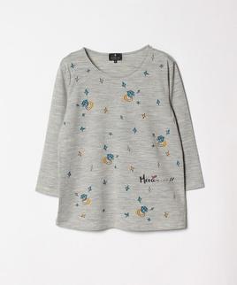 ウールプリントTシャツ