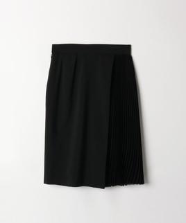 シフォン切り替えプリーツスカート