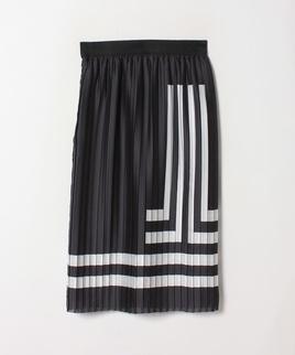ロゴプリントプリーツスカート