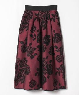 ローズジャガードスカート