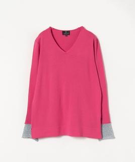 ラメ切り替えセーター