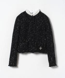 【セットアップ対応商品】モールツィードパール付きジャケット