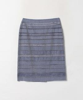 ランダムボーダー柄スカート