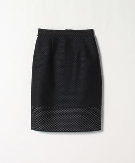 ドット織りタイトスカート