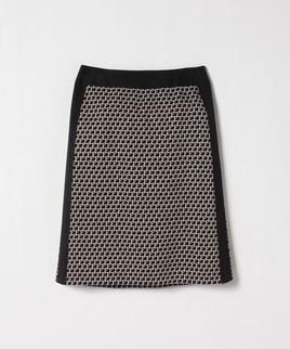 ジオメトリックニットスカート