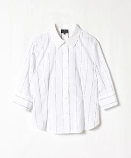 ロゴストライプシャツジャケット