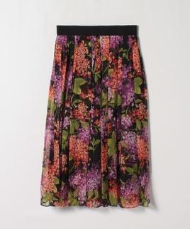 ライラックプリントスカート