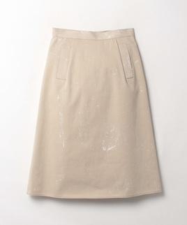 ペイント風Aラインスカート