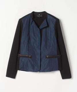異素材切替えジャケット