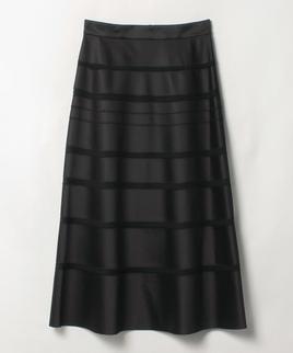 ボーダーフレアロングスカート