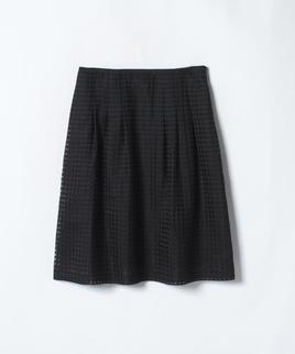シャドーチェックギャザースカート