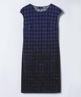 ハウンドトゥースプリントドレス