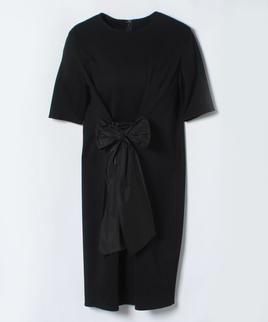 タフタリボンジャージドレス