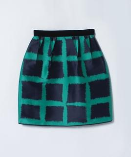 ビッグチェックタイトスカート
