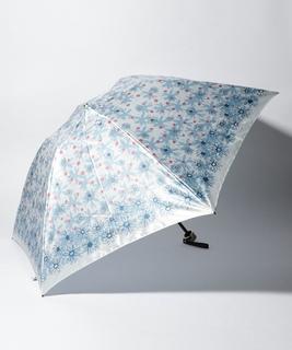 LANVIN en Blue 婦人 ミニ傘 【クイックアーチ】 プリント 花柄