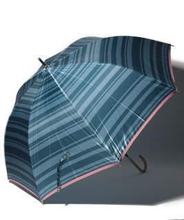 LANVIN en Blue 婦人 長傘 【耐風】 ボーダー