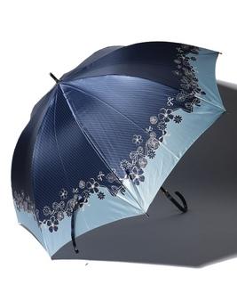 LANVIN en Blue 婦人 長傘 【耐風】 すそ 花