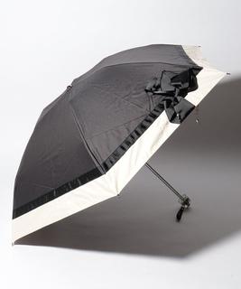 LANVIN en Blue 晴雨兼用傘 ミニ傘 切継 リボン