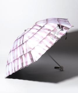 LANVIN en Blue 晴雨兼用傘 ミニ傘 スカラ刺繍 フリル