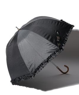 LANVIN en Blue 晴雨兼用傘 長傘 フリル