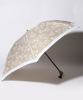 LANVIN en Blue(ランバン オン ブルー)折りたたみ傘 【ストライプ マーガレット】