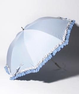 "LANVIN en Bleu 晴雨兼用傘 ""グログランフリル"""