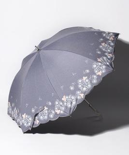 """LANVIN en Bleu 晴雨兼用傘 """"フラワー ハート"""""""