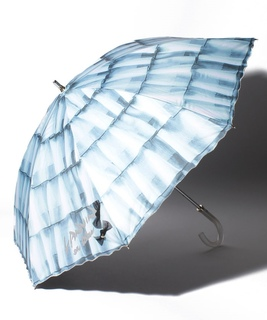 "LANVIN en Blue (ランバンオンブルー) 晴雨兼用傘 ""スカラ刺繍 フリル"""