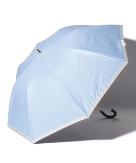 "LANVIN en Blue(ランバン オン ブルー)晴雨兼用折りたたみ傘 ""グログランりぼん"""