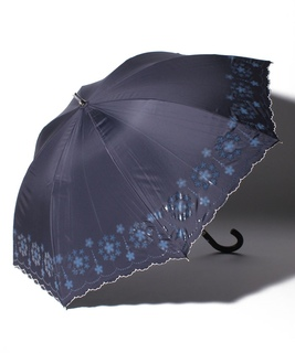 "LANVIN en Blue (ランバン オン ブルー) 晴雨兼用傘 ""グリッタースカラ刺繍"""