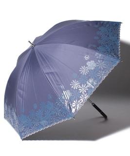 "LANVIN en Blue (ランバン オン ブルー) 晴雨兼用傘 ""グリッター スカラ刺繍"""