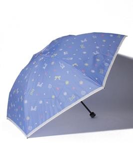 LANVIN en Blue(ランバンオンブルー)折りたたみ傘 【りぼんドット】