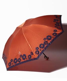 LANVIN en Blue(ランバン オン ブルー) 簡単開閉折りたたみ傘【サテンマーガレット】