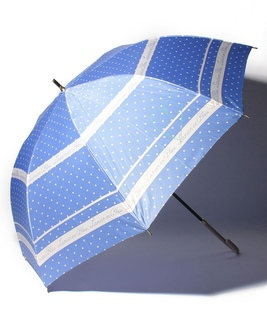 LANVIN en Blue(ランバン オン ブルー) 耐風傘【サテンドット】