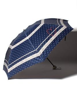 LANVIN en Blue(ランバン オン ブルー) 折りたたみ傘【サテンドット】