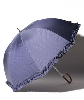 LANVIN en Blue(ランバン オン ブルー)晴雨兼用日傘 ドビーフリル